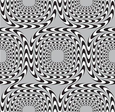 Fotomural Ilusión óptica, Vector ininterrumpidas de fondo, cuadrados Mo