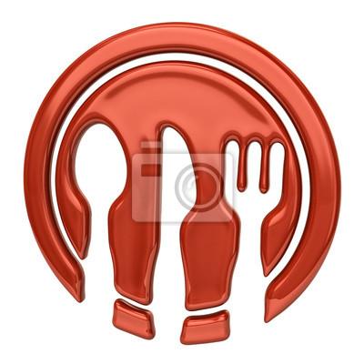 Ilustraci n de cuchara cuchillo tenedor y plato de for Plato tenedor y cuchillo