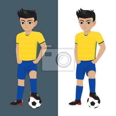 Ilustracion De Nino Jugando Futbol Futbol En Los Juegos Olimpicos
