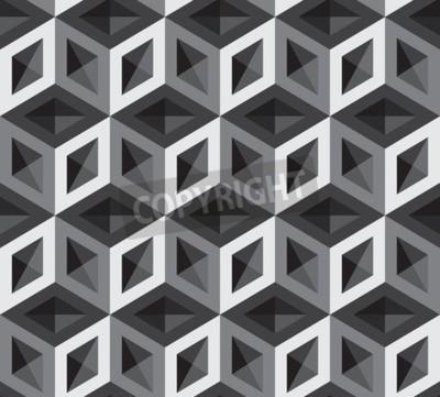 Fotomural Ilustración de patrón de cubos 3D. Antecedentes y telón de fondo.