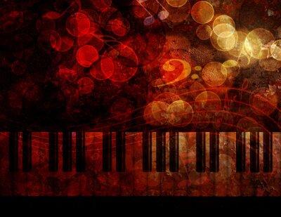 Fotomural Ilustración del fondo del grunge del teclado de piano