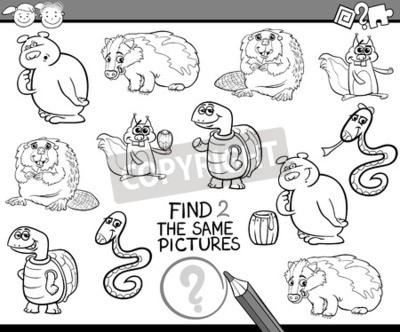 Ilustracion En Blanco Y Negro De Dibujos Animados De Buscar La