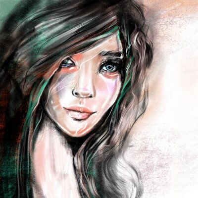 Fotomural Ilustración retrato