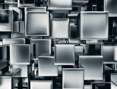 Fotomural imagen abstracta de cubos de metal de fondo