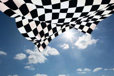 Fotomural Imagen compuesta de bandera a cuadros