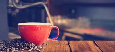 Fotomural Imagen compuesta de taza de café blanca