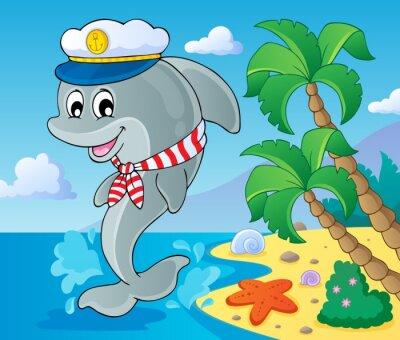Fotomural Imagen con delfines tema 3