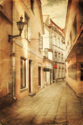 Fotomural Imagen de estilo retro de la antigua calle europea