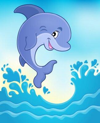 Fotomural Imagen de salto del delfín 6