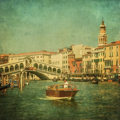 Fotomural Imagen del vintage del Gran Canal, Venecia
