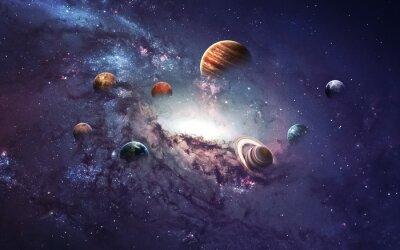 Fotomural Imágenes de alta resolución presenta la creación de planetas del sistema solar. Esta imagen de elementos proporcionados por la NASA