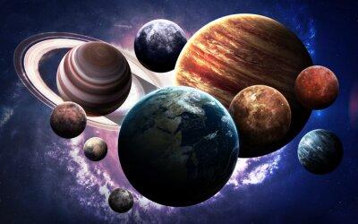 Fotomural Imágenes de alta resolución presentan planetas del sistema solar. Esta imagen de elementos proporcionados por la NASA