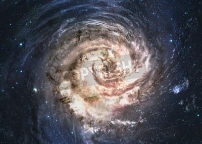 Fotomural Increíblemente hermosa galaxia espiral en algún lugar del espacio profundo.