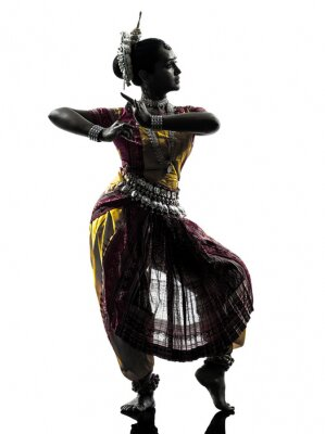Fotomural indian mujer bailarina silueta bailando