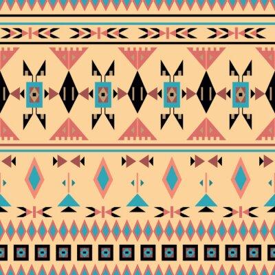 Fotomural Indios americanos, patrón transparente, ilustración vectorial
