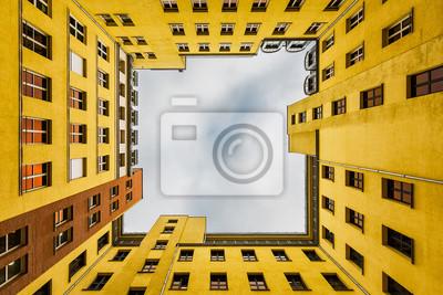 Fotomural Inner Courtyard of Berlin appartment building