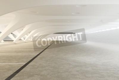 Fotomural Interior futurista abstracto vacío moderno