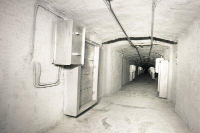 Fotomural Interior industrial del túnel del sistema del vantilation