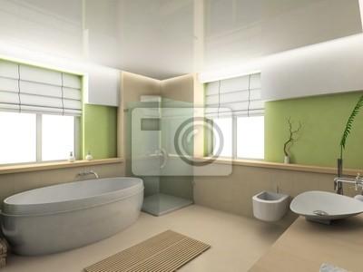 Interior moderno. procesamiento 3d. cuarto de baño. diseño exclusivo ...