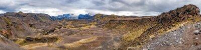 Fotomural Islandia Landmannalaugar caminata paisaje salvaje