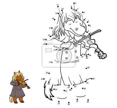 Juego de números para niños: caballo y violín fotomural ...