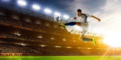 Fotomural Jugador de fútbol en acción