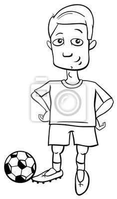 Fotomural Jugador De Fútbol Para Colorear