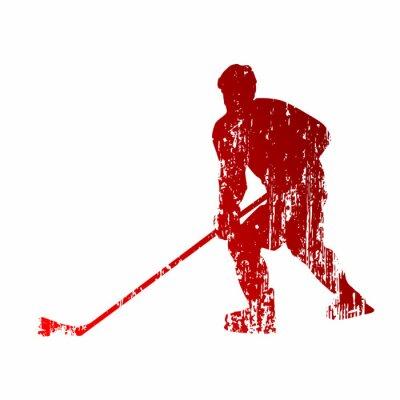 Fotomural Jugador de hockey Abstract