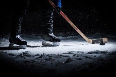 Fotomural Jugador de hockey. Legs only ver