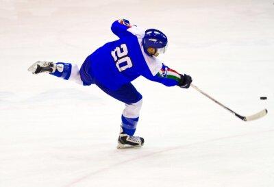 Fotomural jugador de hockey sobre hielo