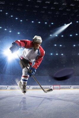 Fotomural Jugador de hockey sobre hielo en la arena de hielo