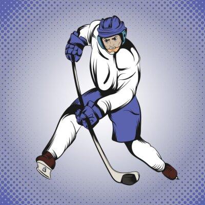 Fotomural Jugador del hockey de los tebeos
