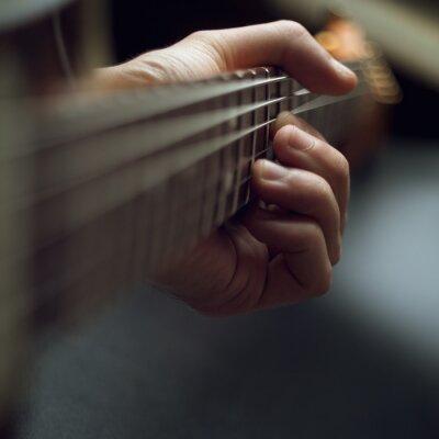 Fotomural Jugando la guitarra eléctrica