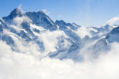 Fotomural Jungfraujoch Alpes paisaje de montaña