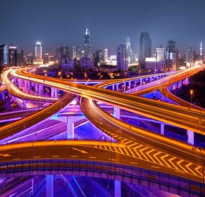 Fotomural Kreuzung en Shanghai
