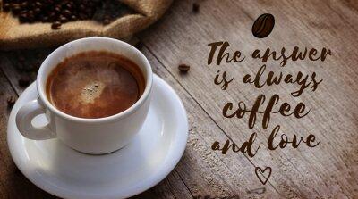 Fotomural la cita del café