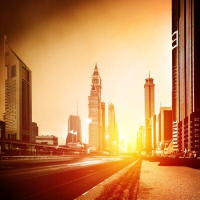 Fotomural La ciudad de Dubai en la puesta del sol