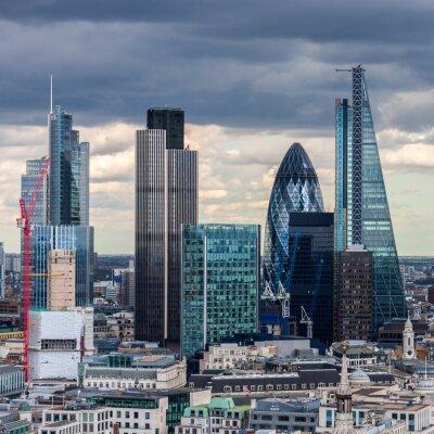 Fotomural La ciudad de Londres en la tarde