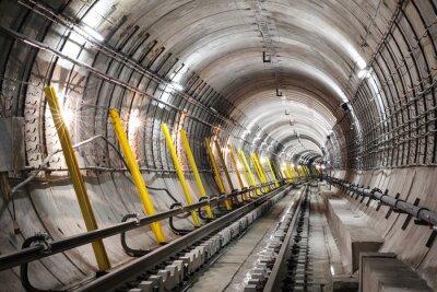 Fotomural La construcción del túnel del metro