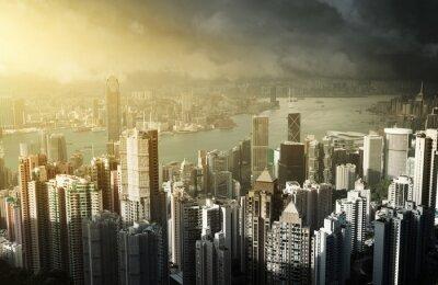 Fotomural La isla de Hong Kong de Victoria Peak