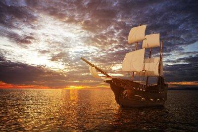 Fotomural La nave antigua en el mar