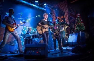 Fotomural La venda realiza en etapa, concierto de la música rock