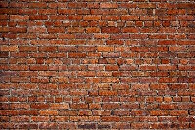 Fotomural la vieja pared de ladrillo rojo