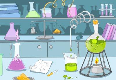 Fotomural Laboratorio Químico