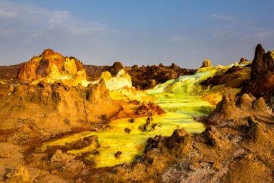 Fotomural Lago de azufre en la depresión de Danakil, Etiopía