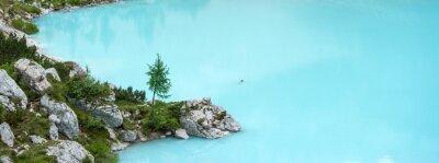 Fotomural Lago de Sorapis, Dolomitas montaña