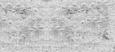 Fotomural Larga pared de ladrillo blanco