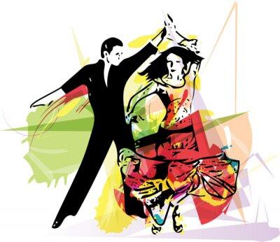 Fotomural Latino Pares del baile