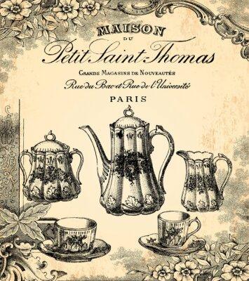 Fotomural Le salon de thé