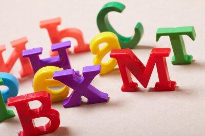 Fotomural Letras del alfabeto plástico